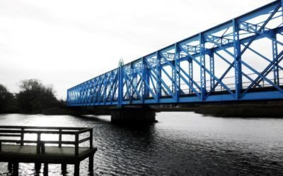 The Blue Bridge Randers surface treated